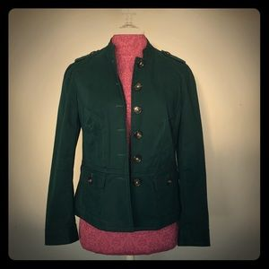 Talbots 8p dark emerald green light weight jacket